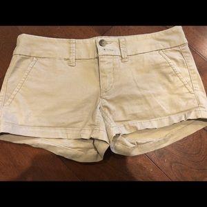 Khaki American Eagle Shorts. Size 0.